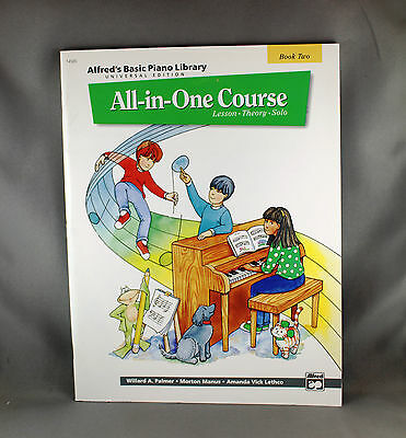 Alfred's Basic Piano Library All In One Course Book Two - Brand New