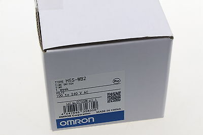 Omron Time Switch H5S-WB2 100-240VAC New In Box