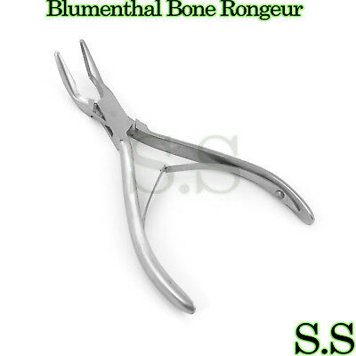 "3 Pieces Of Blumenthal Bone Rongeur 45 Degree 6"" Surgical Dental Instruments"