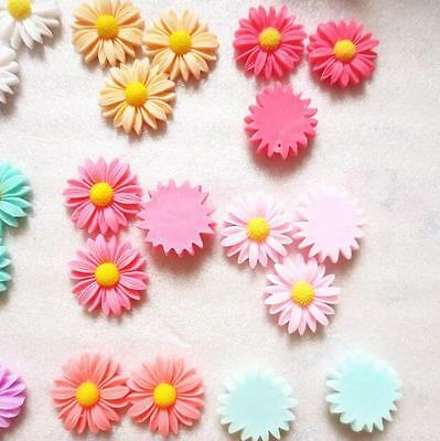 20pcs Flower Sunflower Cute Resin New DIY Phone /Craft Flatback Scrapbooking