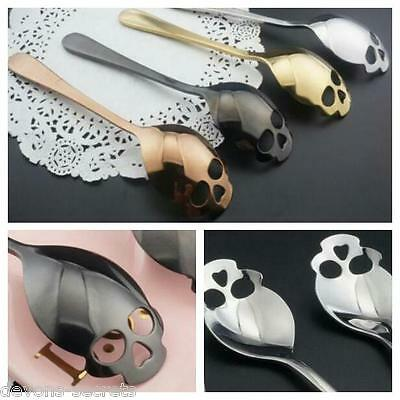 shaped cutlery set Gothic punk themed sugar tea coffee teaspoon SKULL Spoon SP1