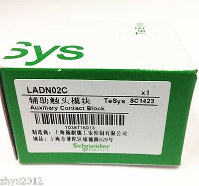 1Pcs New Schneider Auxiliary Contact Block LADN02C ok