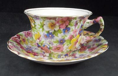 James Kent DUBARRY CHINTZ Cup & Saucer VINTAGE GREAT CONDITION
