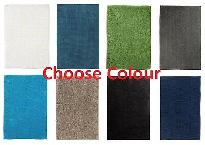 IKEA Non-Slip Microfibre Bathroom Bath Mat Bathmat Rug 60 x 90cm Choose Colour