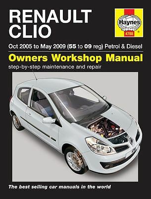 HAYNES SERVICE & REPAIR MANUAL 4788 Renault Clio Petrol & Diesel 55 to 09
