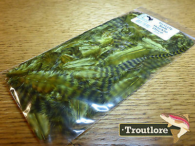 Olive Grizzly Soft Hackle Hareline Dubbin - New Fly Tying Feathers