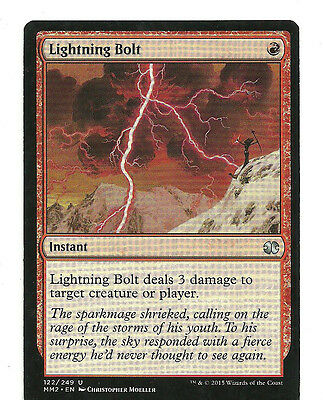 mtg Magic 1x Lightning Bolt ( Relampago )  Excellent  Modern Masters  English