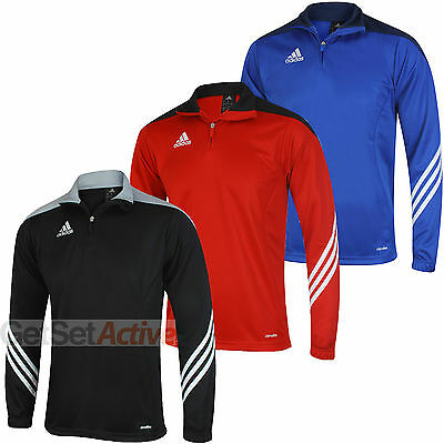 adidas Mens Sereno 14 climalite Quarter Zip Football Training Jersey Track Top