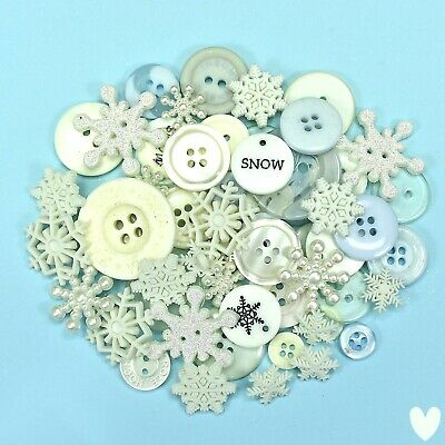Buttons Galore Value Pack Assorted Snowflakes Embellishments VP314a  Dress it Up