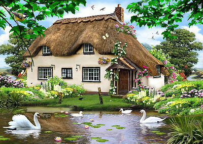 Glass Chopping Board Kitchen Worktop Saver Protector Swan Cottage Country Home