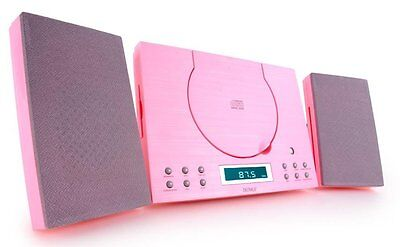 CD Player Denver MC-5010 Pink HiFi Mini Micro System Stereo Aux-In Compact