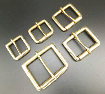 """Heavy Duty Strong [ 1"""" - 2""""  ] Solid Brass Single Roller Military Buckle"""
