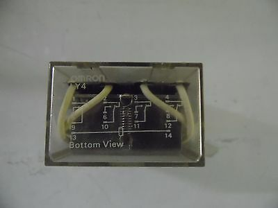 Omron Cube Relay LY4, 24 VDC Coil, Used, Warranty