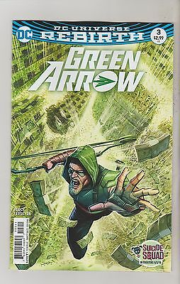 Dc Comics Green Arrow #3 September 2016 Rebirth 1St Print Nm