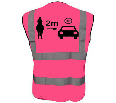 Pink Horse Gap Adult Horse Riding Hi-Vis Safety Vest Equestrian. High Viz