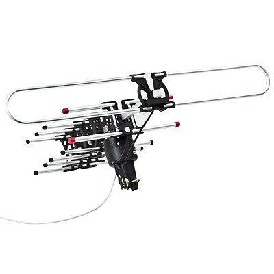 HDTV Remote Controlled HD TV Antenna VHF UHF DIGITAL High Def Antena Amplified