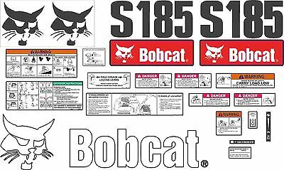 Bobcat S185 Decal Kit with controls. The most complete aftermarket kit available