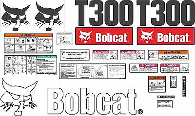Bobcat T300 Decal Kit with controls. The most complete aftermarket kit available