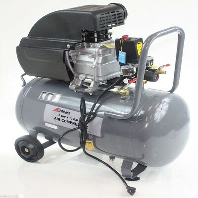 New Air Compressor Portable 3.5 HP Motor 125 PSI 10 Gallon with Steel Tank