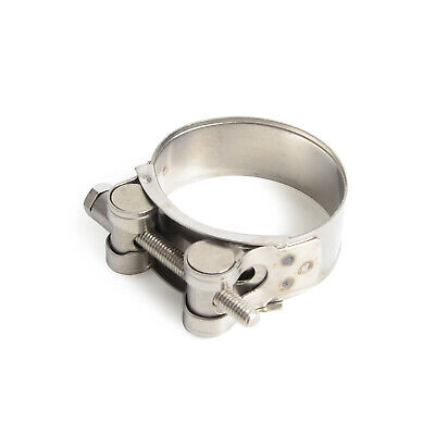"""New Natural 2"""" 51mm Exhaust Clamp Kit Stainless Steel for Motorcycle Universal"""