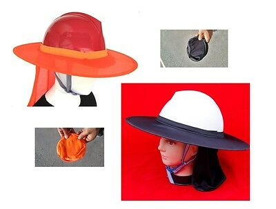 Sun SHADE for Hard Hat - Sun Protect Gardening  CHOICE: 1, 2, 3, 5, 10, 20 PACK