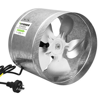 "VIVOSUN 250mm 10"" inch Inline Duct Booster Exhaust Fan Ventilation Air Blower"