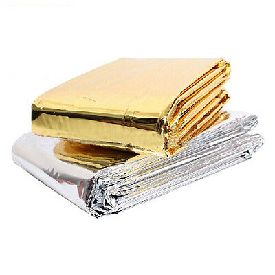 Portable Outdoor Multifunctional Emergency Blanket Simple Tent Camp Silver