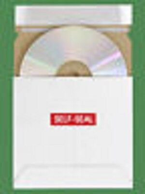 "200 Uline White 5 1/8"" Cardboard Cd & Dvd Stay Flat Mailers S-2663 On Sale"