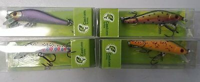4 suspending shallow minnows brand new fishing lures for trout