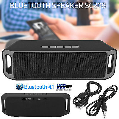 2016 POWERFUL Portable Wireless Bluetooth Stereo Speakers Support FM TF USB AUX