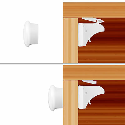 Magnetic Child Safety Locks for Cabinets Drawers Baby Proofing 10Loks +2Keys