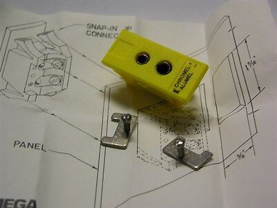 2 Omega Engineering JP-K-F Female Panel Jack w/ K Calibration Chromel + Alumel -