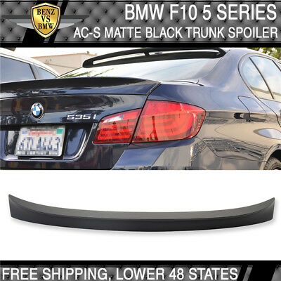 11-16 BMW F10 5 Series AC-S Style Trunk Spoiler Painted Matte Black - ABS