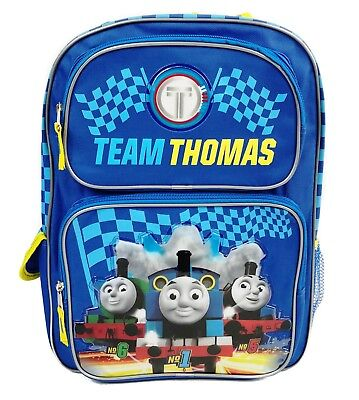 "Thomas the Tank Engine 16"" Large School Backpack Book Bag -Blue-"