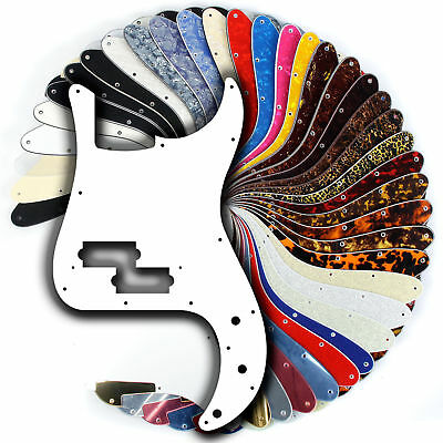 Precision Bass Scratchplate Pickguard for Fender P Bass Pick Guard 3 Ply Color