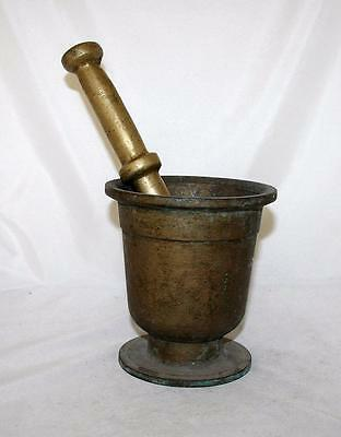 Antique Bronze Mortar And Pestle Morocco 19th Century