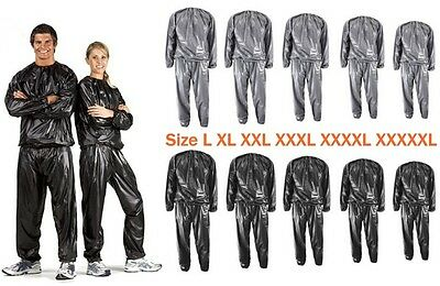 Womens Mens Sweat Sauna Suit Exercise Gym Fitness Training Weight Loss Anti-Rip
