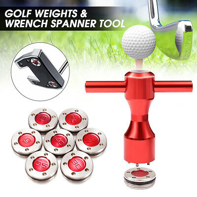 2 x Red Golf Weights + Wrench Spanner Tool For Titleist Scotty Cameron Putters