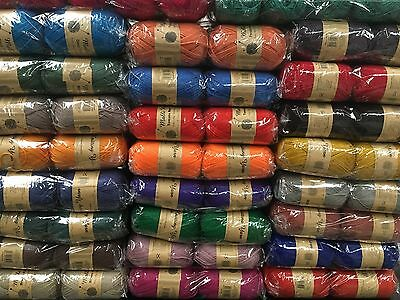 New knitting wool 5 x 100g acrylic yarn 8ply bulk several colours lot 2 solids