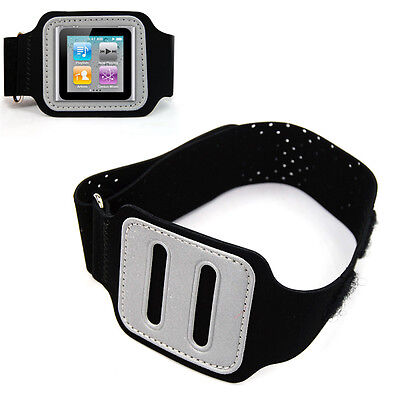 5X(Black Armband Case Protector Armband Cover for Apple Apple iPOD Nano 6th HY