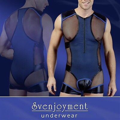 Svenjoyment Herren Body Royal GrӇe L Netz Wetlook |47