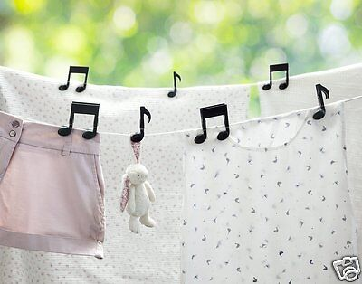 Musiclips Multi Purpose Clips Pegs Musical Notes Hanging Laundry Gift by Ototo