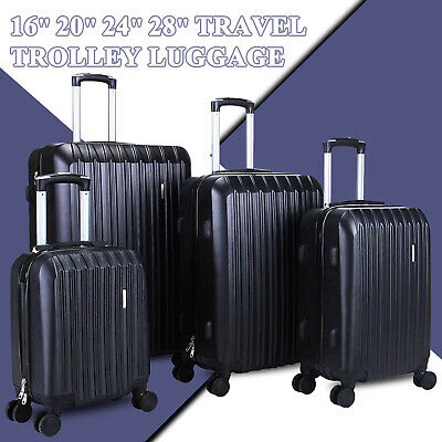 "16""/20""/24""/28"" Set of 4 Travel Spinner Luggage Set Bag ABS Trolley Suitcase"