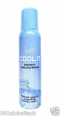 150ml InstaCool Hot Weather Cooling Spray Cools Cool Face & Body Travel Holiday
