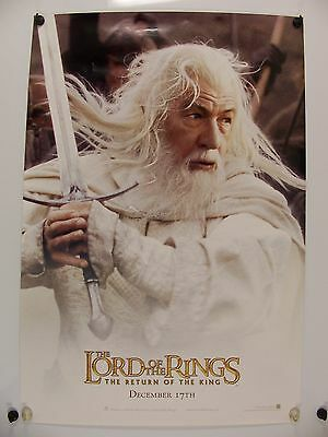 LORD of the RINGS - ROTK - Gandolf - Original Movie Poster - 2003 Rolled DS C9