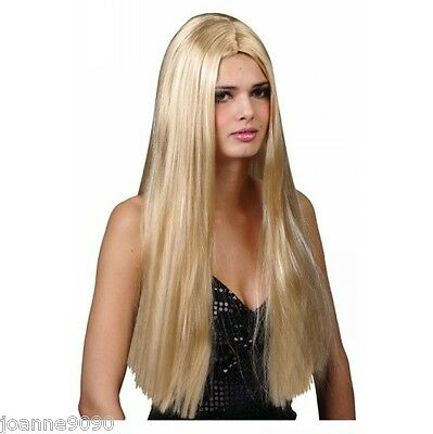 """Classic Long Blonde Sexy Straight 24"""" Fancy Dress Costume Wig Accessory Ladies"""