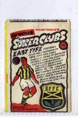 (Ga1995-407) Anglo American Gum, Famous Soccer Clubs, #100 East Fife c1959 G-VG