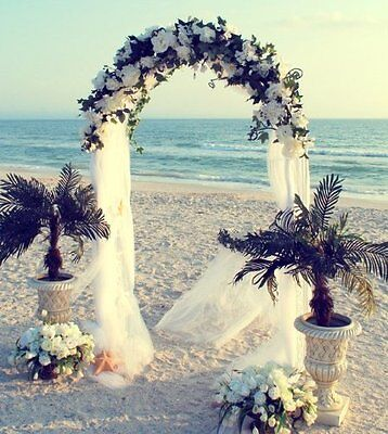 7.5FT WHITE METAL ARCH for Wedding Party Bridal Prom Garden Floral Decoration!!