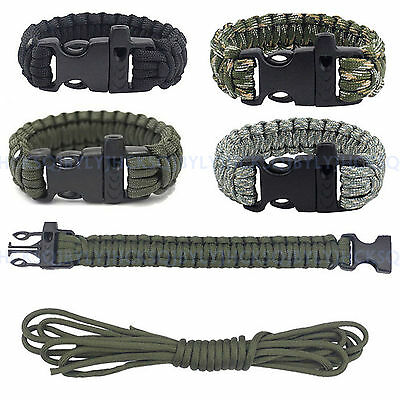 3M Outdoor Camping Emergency Tactical Survival Paracord Rope Bracelet Wristband