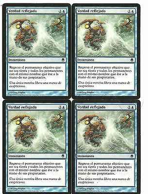 mtg Magic 4x Echoing Truth ( Verdad Reflejada )  Spanish Good